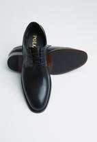 POLO - Carlos plain vamp lace up - black