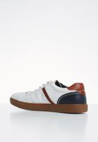 POLO - Evan fashion sneaker - white & brown