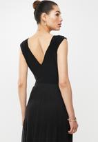 MILLA - Wrap bodysuit - black