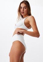Cotton On - Highwaisted full bikini bottom - white broiderie