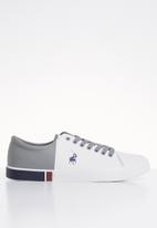 POLO - Brandon colour block sneaker - white & grey
