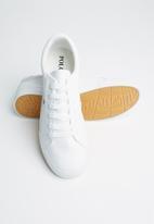 POLO - Oliver plain vamp leather sneaker - white
