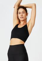 Cotton On - Lifestyle rib seamless vestlette - black