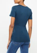Cherry Melon - Wrap top - indigo