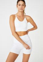 Cotton On - Lifestyle rib seamless vestlette - white