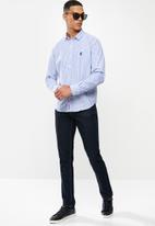 Pringle of Scotland - Daxton long sleeve styled short - blue & white