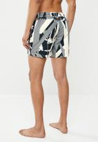 Cotton On - Swim short - grey abstract reeds