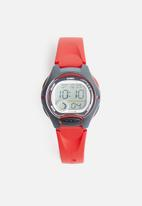 Casio - Kids 50m digital stop watch - red