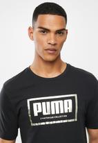 PUMA - Gold graphic tee - black