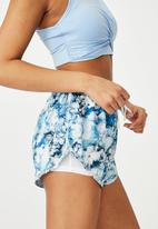 Cotton On - Move jogger short - inky bubbles blue