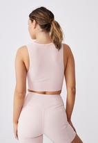 Cotton On - Lifestyle seamless longline vestlette - pink sherbet