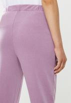 Cotton On - High waisted trackpant - purple