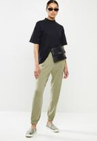 Cotton On - High waisted track pant - sage
