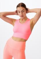 Cotton On - Lifestyle seamless longline vestlette - pink pop