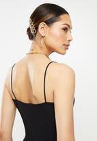 Missguided - Slinky wrap over mini dress - black