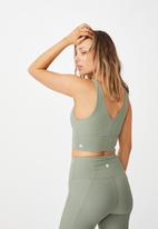 Cotton On - Rib V-neck vestlette - basil green