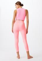 Cotton On - Rib pocket 7/8 tight - pink pop