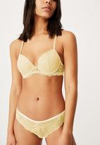 Cotton On - Summer lace contour bra - icy custard
