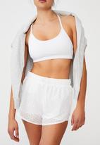 Cotton On - Move jogger short - white laser