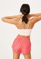 Cotton On - Move jogger short - summer punch pink laser