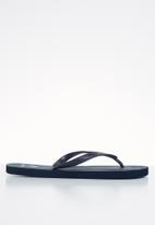 POLO - Andy plain striped flip flop - navy