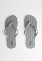 POLO - Andy plain striped flip flop - grey