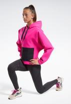 Reebok - Ts edge works hoodie - pink & black