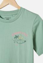 Free by Cotton On - Free boys skater short sleeve tee - green