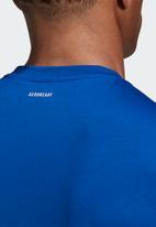 adidas Performance - Conf graphics short sleeve tee - blue