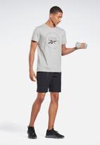 Reebok - Training speedwick short sleeve tee - medium grey heather