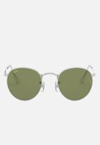 Ray-Ban - Round metal sunglasses 50mm - silver & green