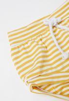 Baby Star - Ribbed tee & stripe shorts set - multi