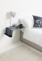 Smart Shelf - Origami bedside table - charcoal