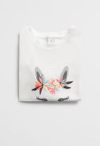 MANGO - Llama short sleeve tee - white