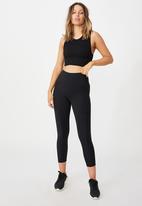 Cotton On - Lifestyle seamless longline vestlette - black
