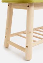 Sixth Floor - Scandi bench - chartreusse