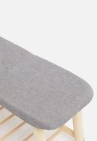 Sixth Floor - Scandi bench - grey