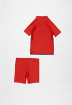 POP CANDY - Boys rashvest & shorts set - red & purple