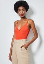 Superbalist - Twist front bodysuit - orange