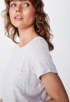 Cotton On - Kathleen short sleeve top - silver marle