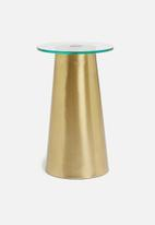 Sixth Floor - Clara side table - metallic