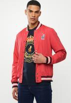 POLO - Alexa nylon baseball jacket - red