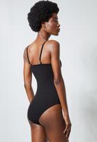 Superbalist - Twist front bodysuit - black