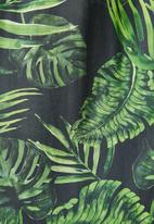 Superbalist - Flute sleeve trapeze dress - green & black