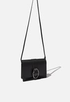 Rubi - Buckle cross body bag - black