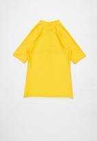 Rebel Republic - Tween boys printed rashvest - yellow & white