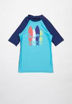 Rebel Republic - Tween boys printed rashvest - blue