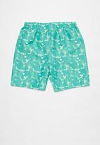 Rebel Republic - Tween boys board  shorts - turquoise & yellow