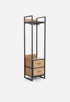 Sixth Floor - Fold-it modular wardrobe - natural & black