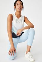 Cotton On - All things fabulous cropped muscle tank - baby blue dip dye